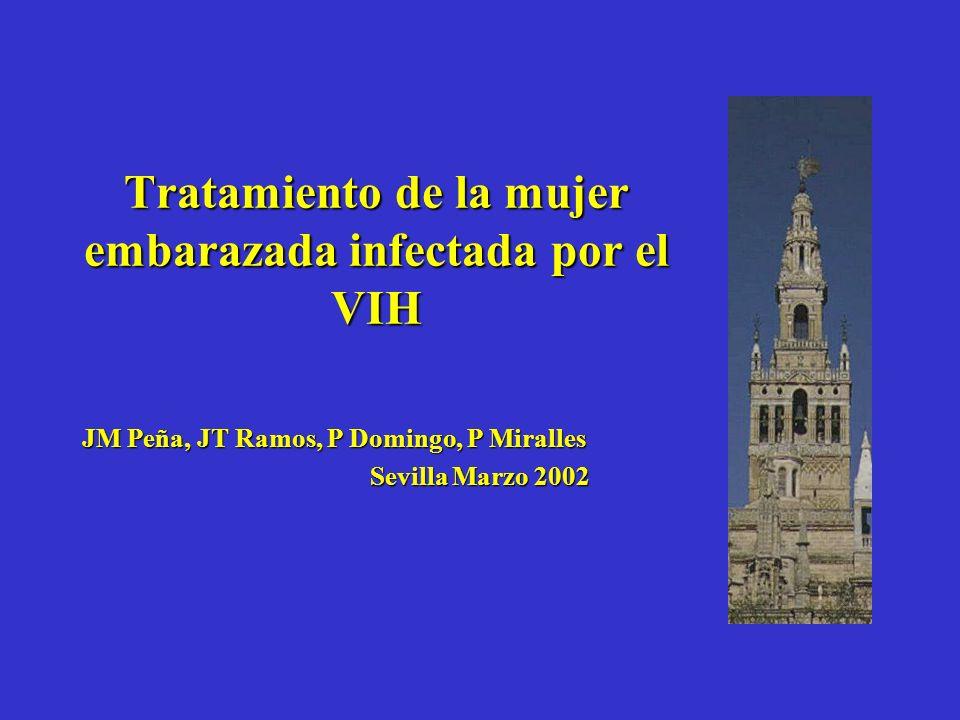 Tratamiento de la mujer embarazada infectada por el VIH JM Peña, JT Ramos, P Domingo, P Miralles Sevilla Marzo 2002