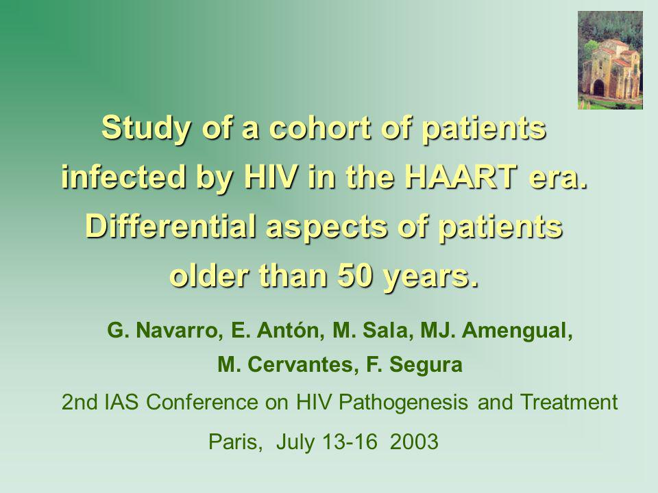 Study of a cohort of patients infected by HIV in the HAART era.