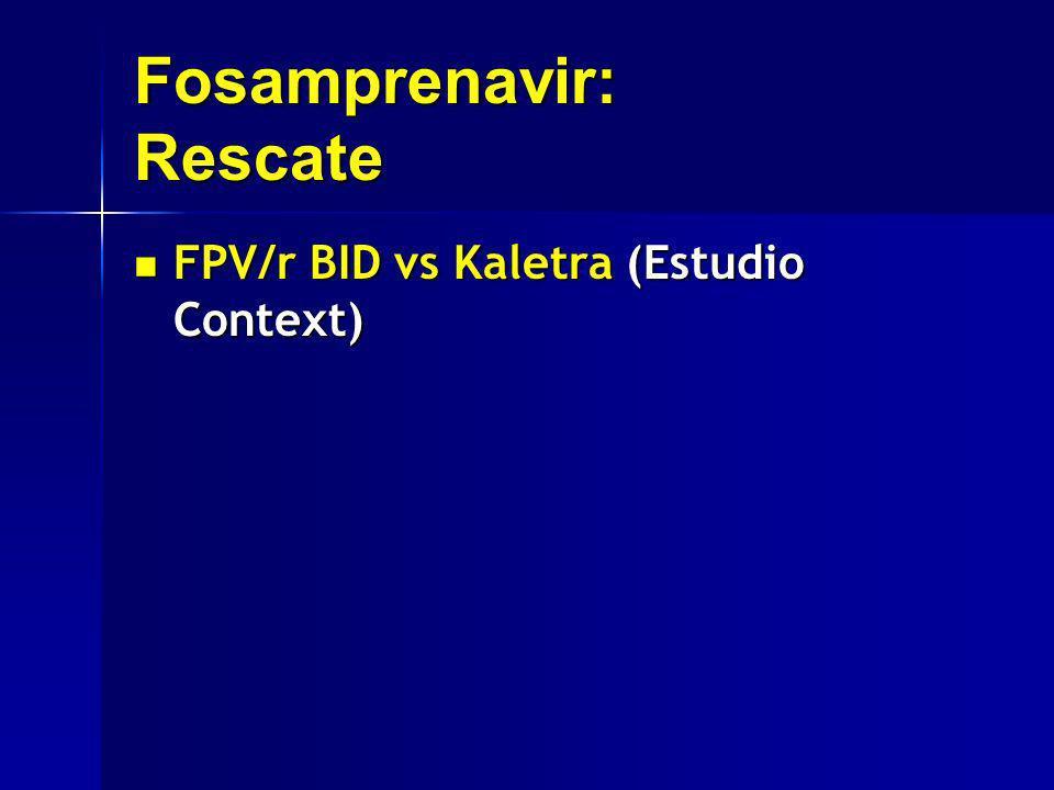 Fosamprenavir: Rescate FPV/r BID vs Kaletra (Estudio Context) FPV/r BID vs Kaletra (Estudio Context)