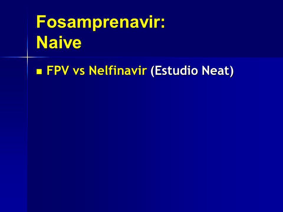 Fosamprenavir: Naive FPV vs Nelfinavir (Estudio Neat) FPV vs Nelfinavir (Estudio Neat)