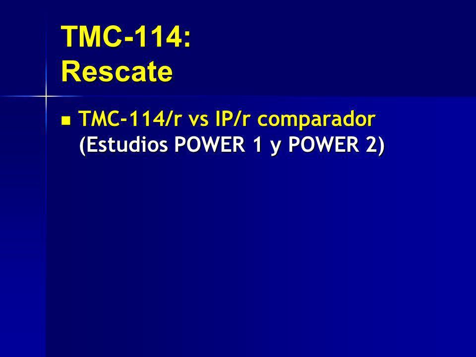 TMC-114: Rescate TMC-114/r vs IP/r comparador (Estudios POWER 1 y POWER 2) TMC-114/r vs IP/r comparador (Estudios POWER 1 y POWER 2)
