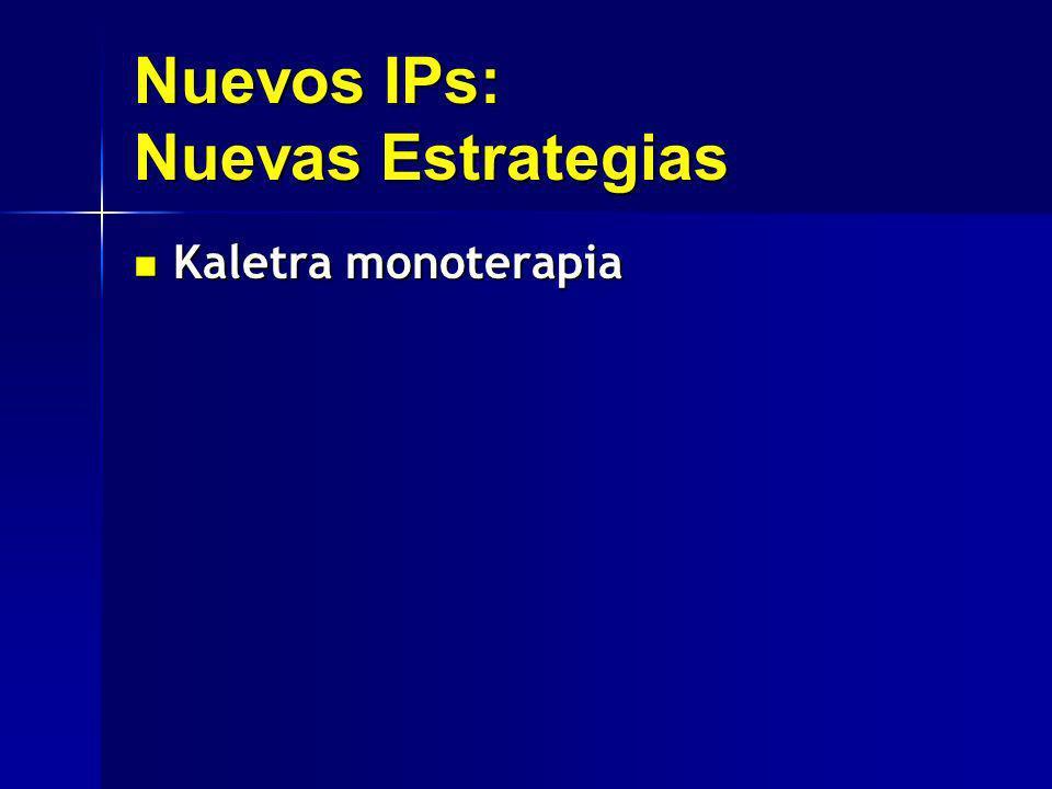 Nuevos IPs: Nuevas Estrategias Kaletra monoterapia Kaletra monoterapia