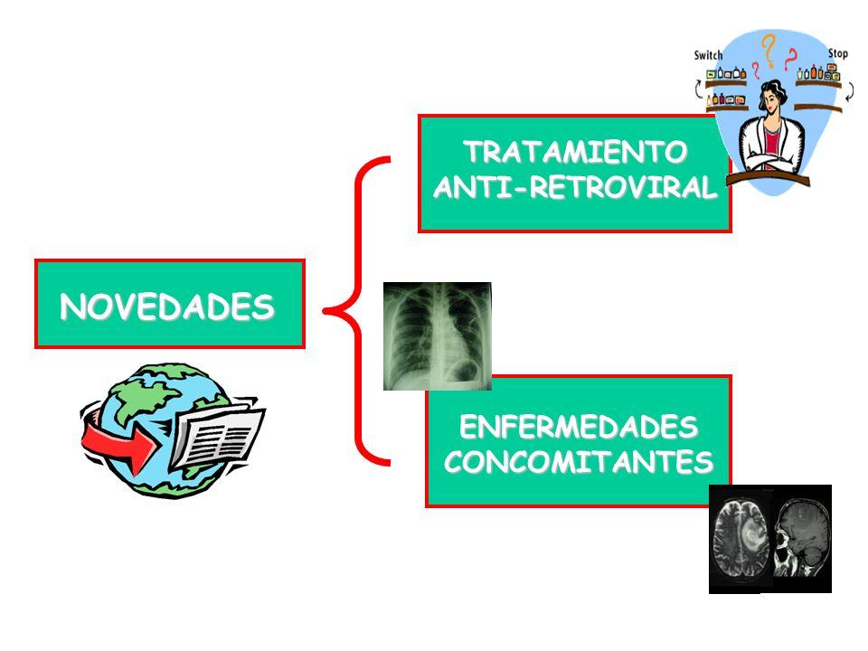 NOVEDADES TRATAMIENTO ANTI-RETROVIRAL ENFERMEDADES CONCOMITANTES