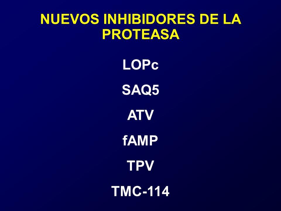 LOPc SAQ5 ATV fAMP TPV TMC-114 NUEVOS INHIBIDORES DE LA PROTEASA