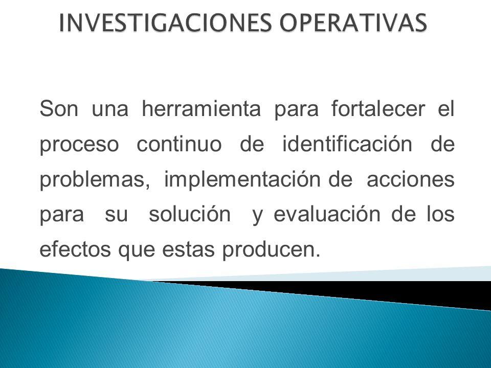 Son una herramienta para fortalecer el proceso continuo de identificación de problemas, implementación de acciones para su solución y evaluación de los efectos que estas producen.