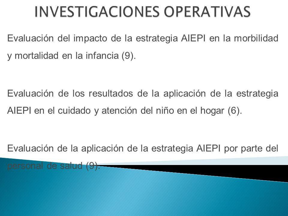 Evaluación del impacto de la estrategia AIEPI en la morbilidad y mortalidad en la infancia (9).
