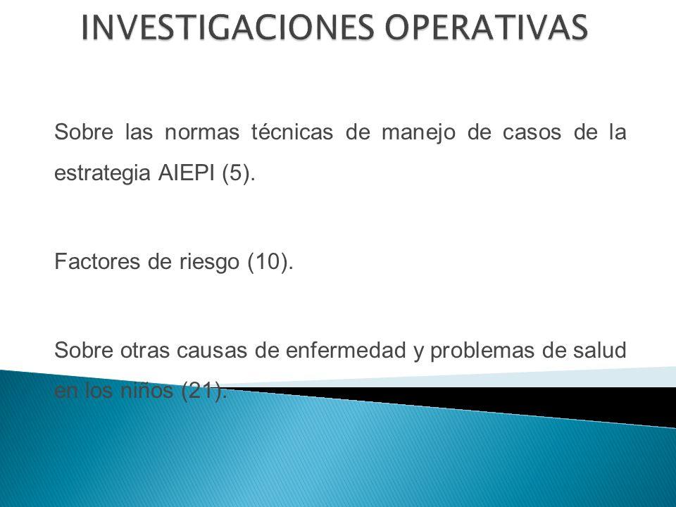 Sobre las normas técnicas de manejo de casos de la estrategia AIEPI (5).