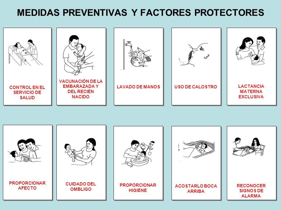 MEDIDAS PREVENTIVAS Y FACTORES PROTECTORES CONTROL EN EL SERVICIO DE SALUD VACUNACIÓN DE LA EMBARAZADA Y DEL RECIÉN NACIDO LAVADO DE MANOS USO DE CALO