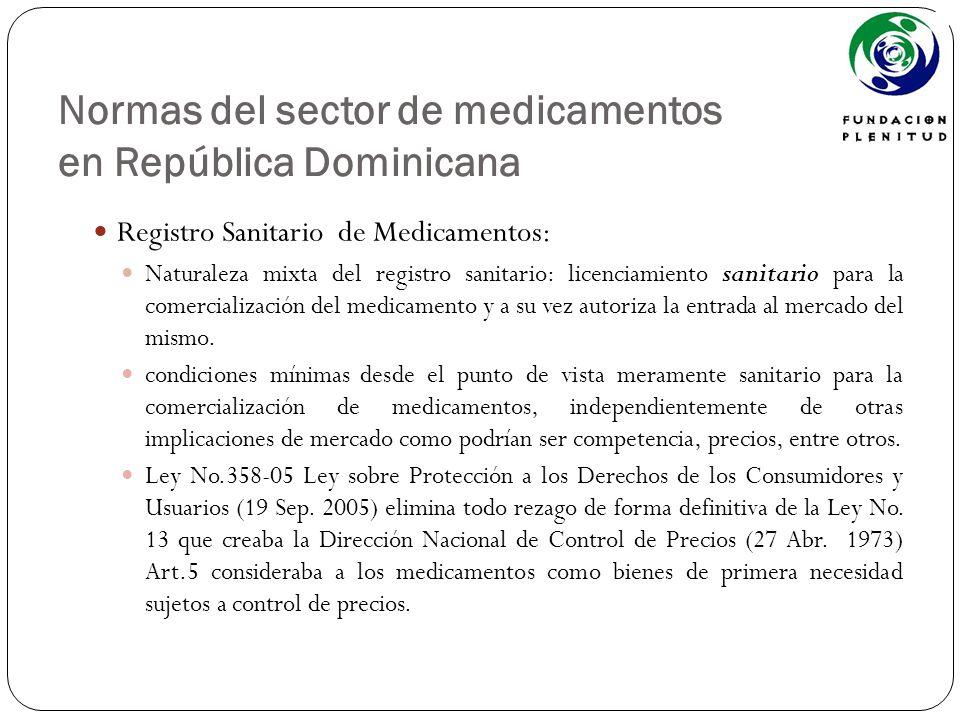 Normas del sector de medicamentos en República Dominicana Registro Sanitario de Medicamentos: Naturaleza mixta del registro sanitario: licenciamiento