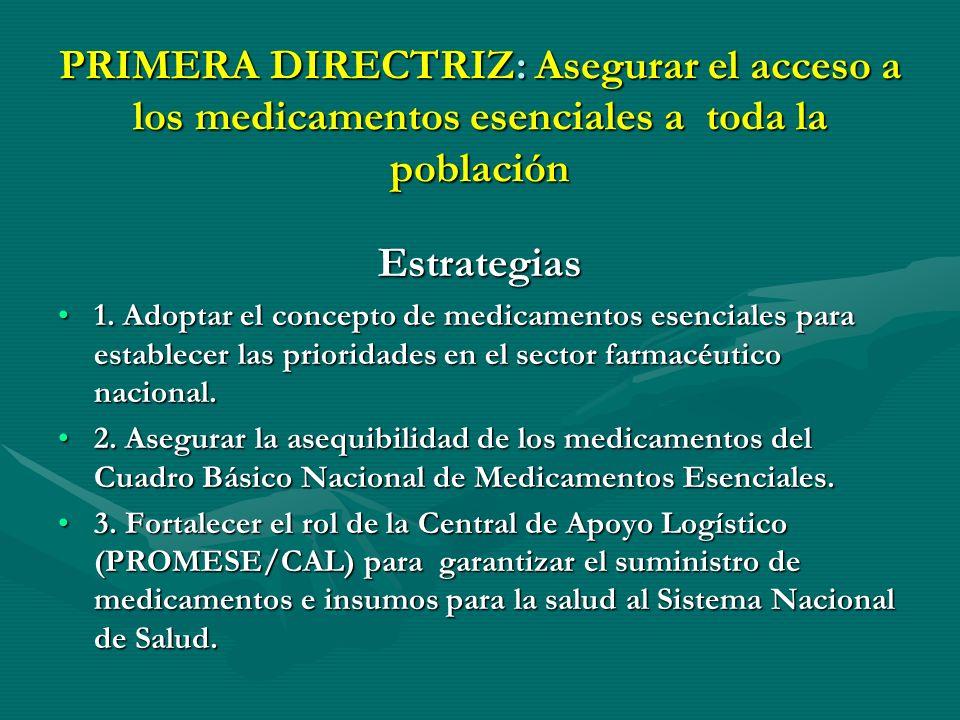 POLÍTICA FARMACÉUTICA NACIONAL (3) ALCANCEALCANCE El conjunto de directrices y estrategias definidas para la política se aplicarán en el contexto del