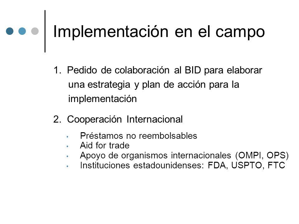 Implementación en el campo 1.