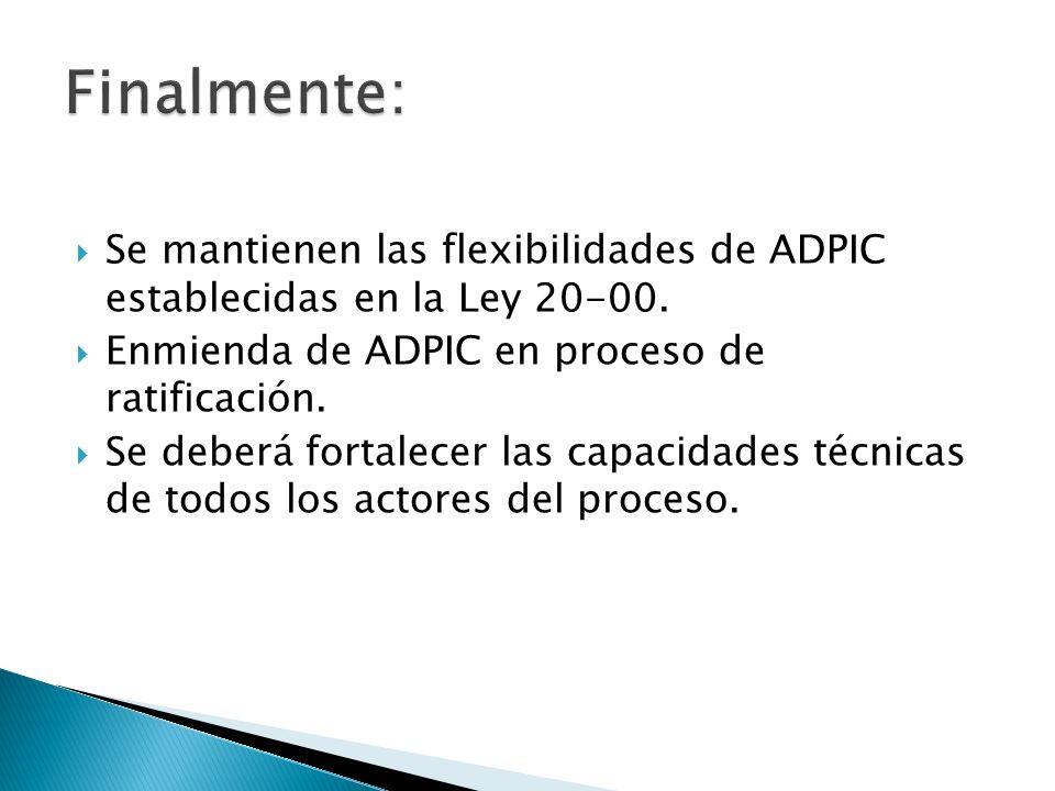 Se mantienen las flexibilidades de ADPIC establecidas en la Ley 20-00.