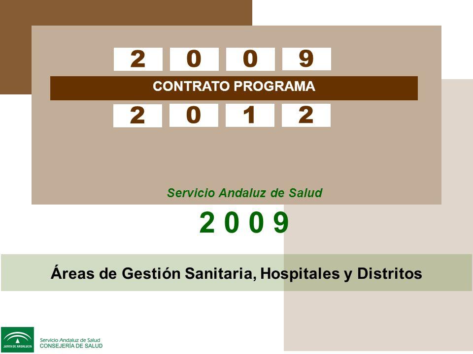 CONTRATO PROGRAMA Servicio Andaluz de Salud 2 0 0 9 2 00 9 2 01 2 Áreas de Gestión Sanitaria, Hospitales y Distritos