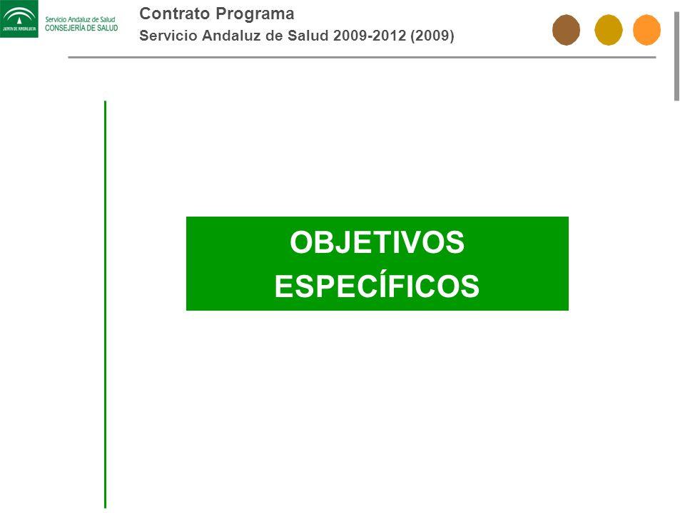 Contrato Programa Servicio Andaluz de Salud 2009-2012 (2009) OBJETIVOS ESPECÍFICOS