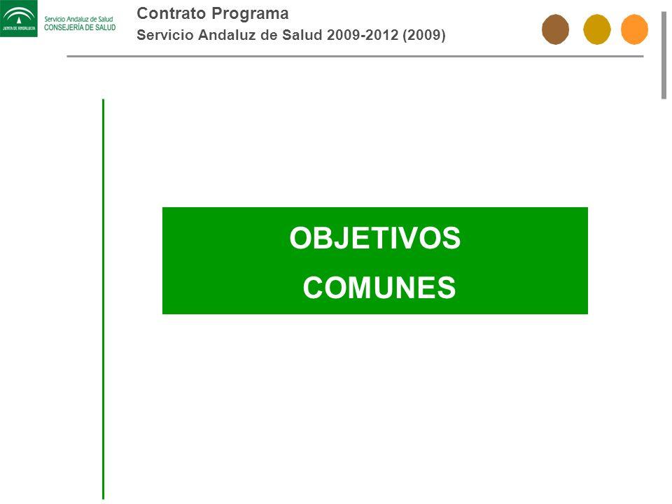 Contrato Programa Servicio Andaluz de Salud 2009-2012 (2009) OBJETIVOS COMUNES