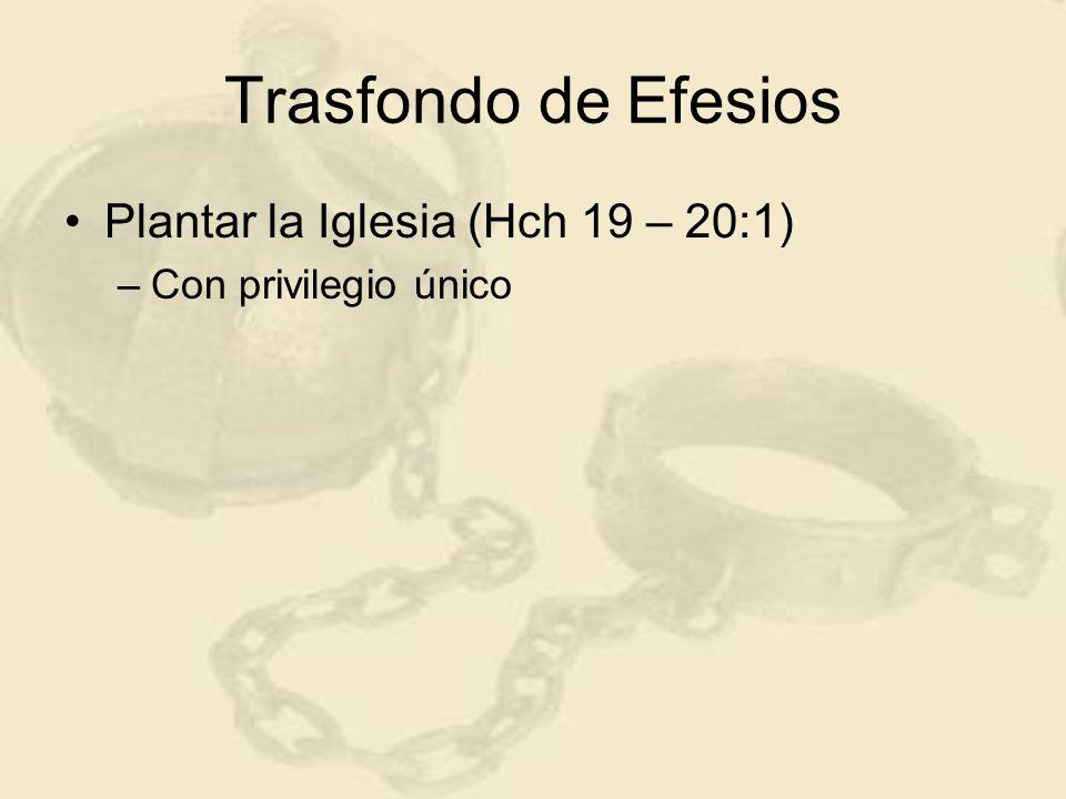Trasfondo de Efesios Plantar la Iglesia (Hch 19 – 20:1) –Con privilegio único