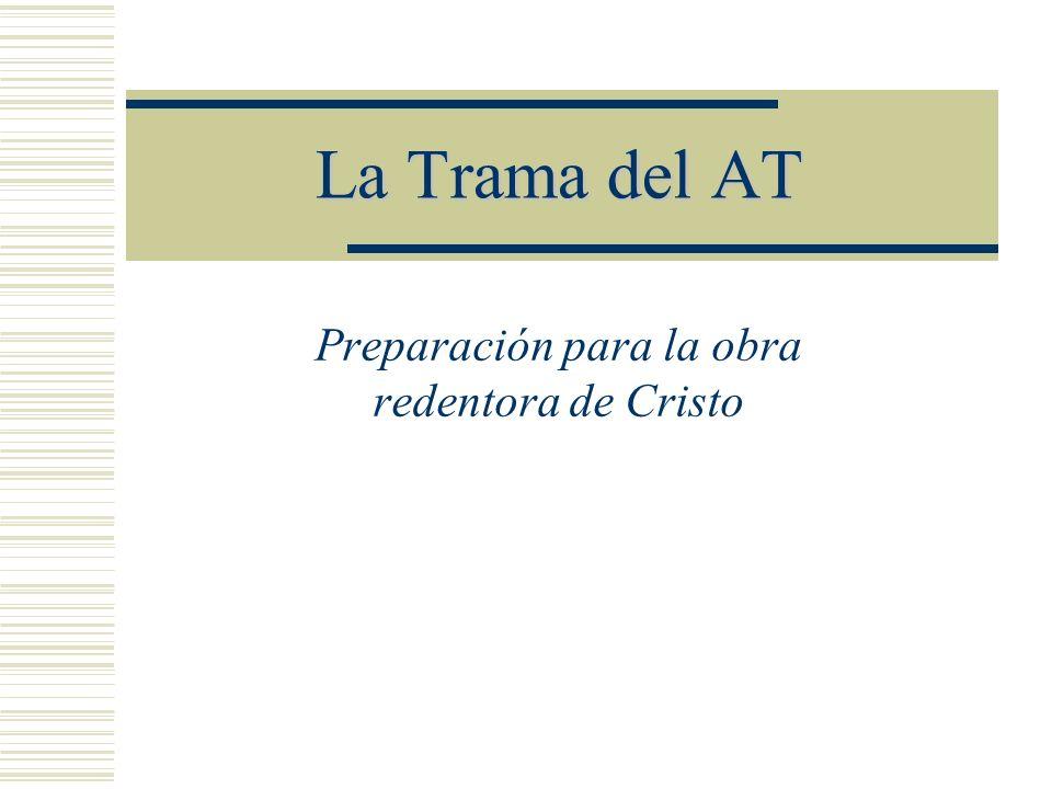 La Trama del AT Preparación para la obra redentora de Cristo