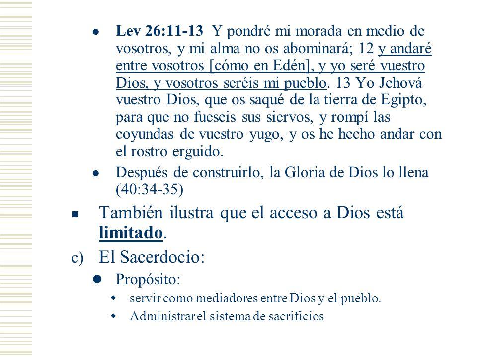Lev 26:11-13 Y pondré mi morada en medio de vosotros, y mi alma no os abominará; 12 y andaré entre vosotros [cómo en Edén], y yo seré vuestro Dios, y