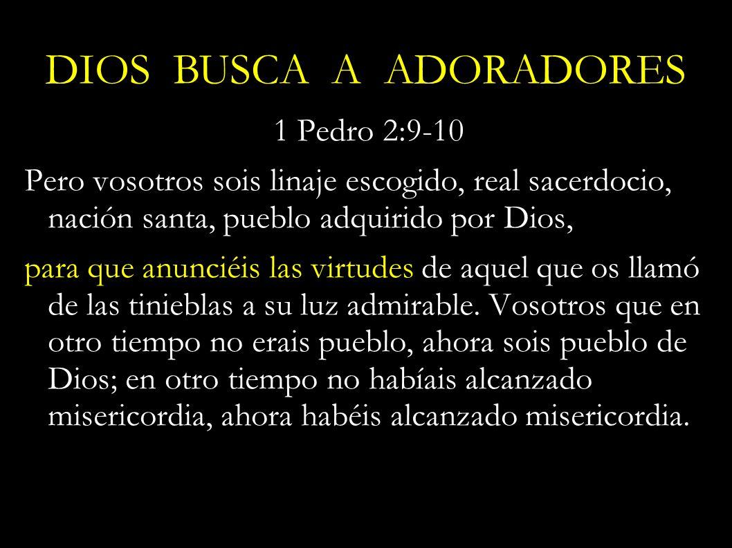 1 Pedro 2:9-10 Pero vosotros sois linaje escogido, real sacerdocio, nación santa, pueblo adquirido por Dios, para que anunciéis las virtudes de aquel