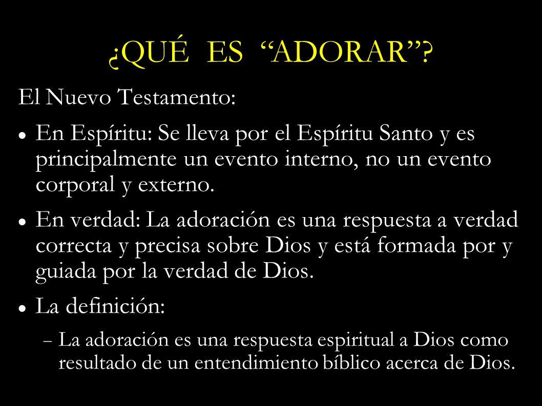 El Nuevo Testamento: En Espíritu: Se lleva por el Espíritu Santo y es principalmente un evento interno, no un evento corporal y externo. En verdad: La
