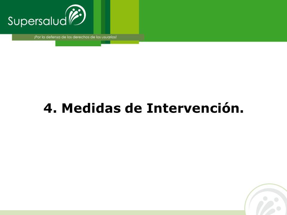 4. Medidas de Intervención.