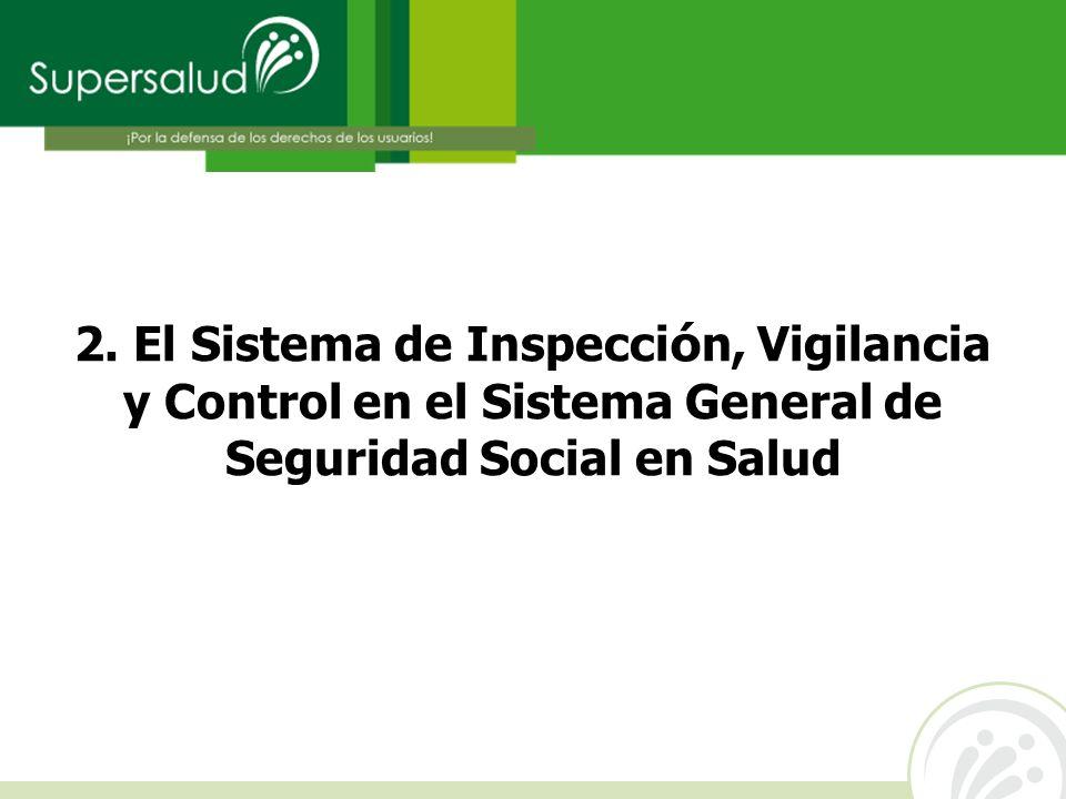 2. El Sistema de Inspecci ó n, Vigilancia y Control en el Sistema General de Seguridad Social en Salud