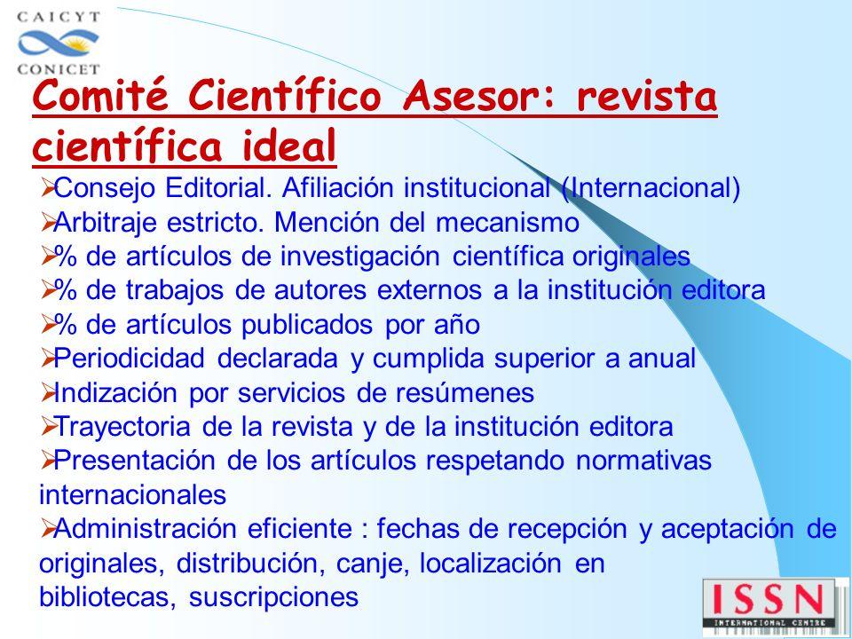 Consejo Editorial. Afiliación institucional (Internacional) Arbitraje estricto.