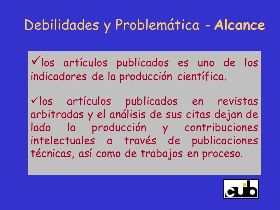 los artículos publicados es uno de los indicadores de la producción científica. los artículos publicados en revistas arbitradas y el análisis de sus c