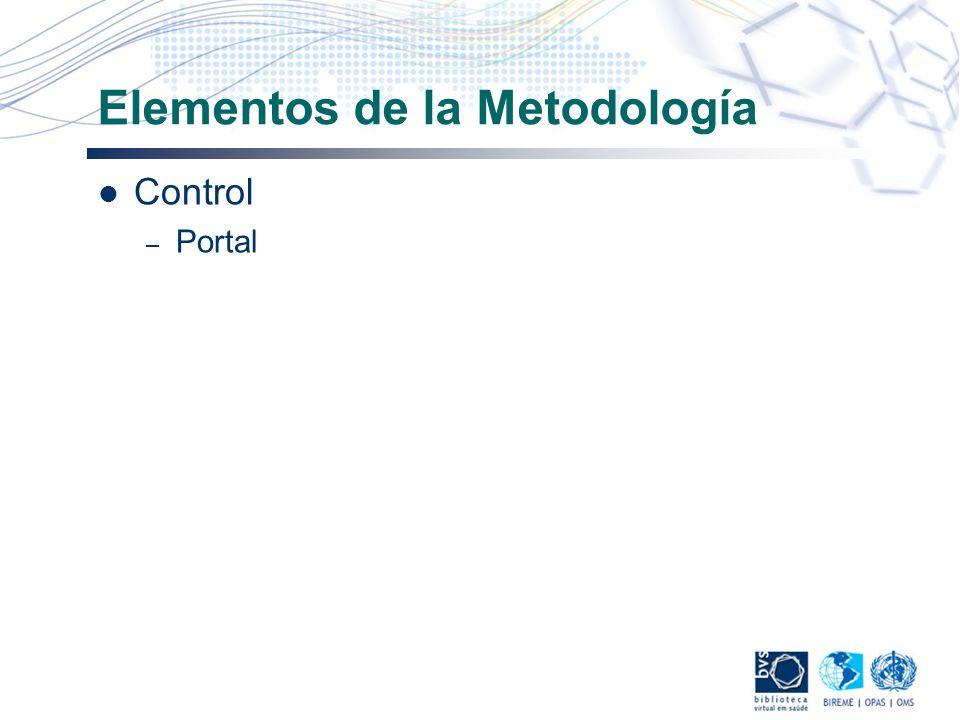 Elementos de la Metodología Control – Portal