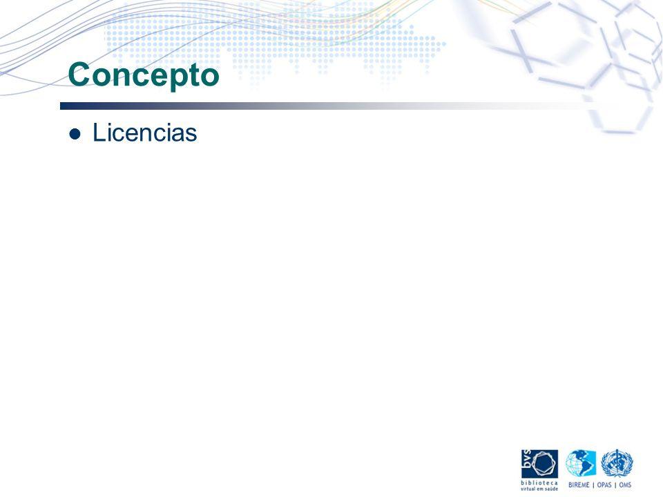 Concepto Licencias