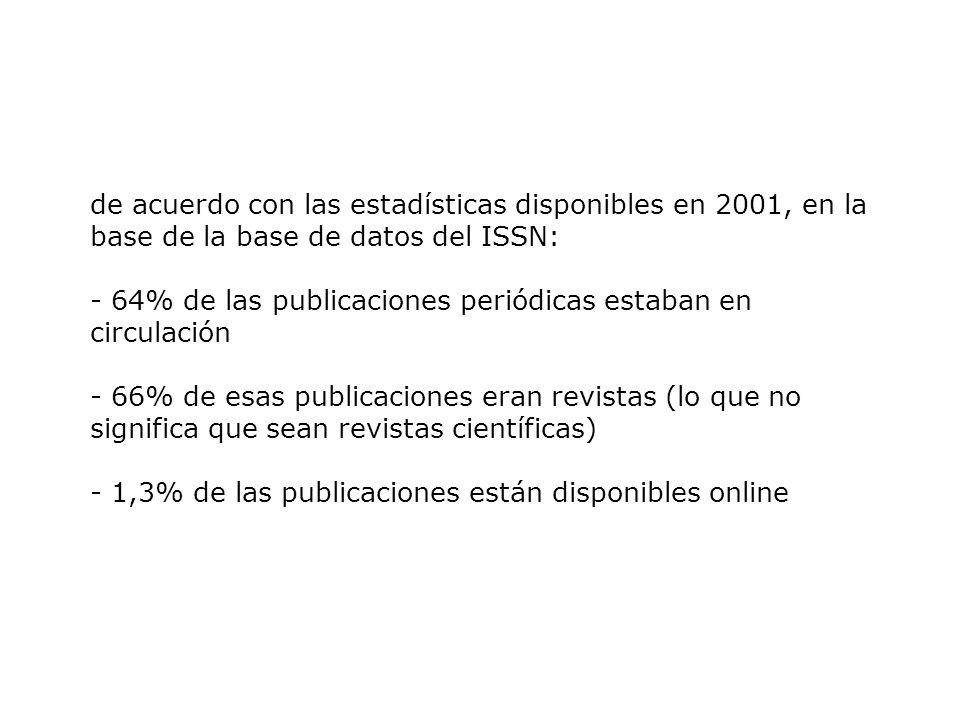 Presencia de las revistas científicas en las bases de datos internacionales …