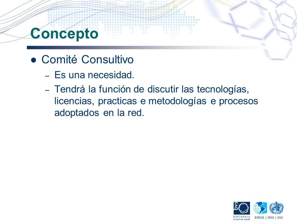 Concepto Comité Consultivo – Es una necesidad. – Tendrá la función de discutir las tecnologías, licencias, practicas e metodologías e procesos adoptad