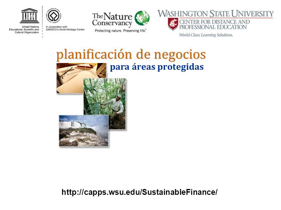 para áreas protegidas planificación de negocios http://capps.wsu.edu/SustainableFinance/