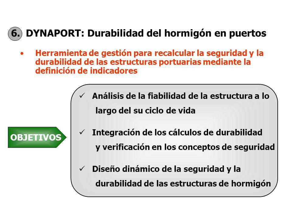 6. DYNAPORT: Durabilidad del hormigón en puertos Herramienta de gestión para recalcular la seguridad y la durabilidad de las estructuras portuarias me
