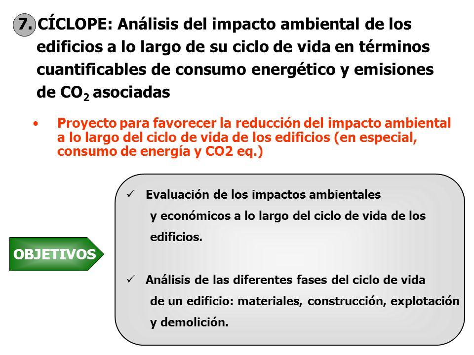 7. CÍCLOPE: Análisis del impacto ambiental de los edificios a lo largo de su ciclo de vida en términos cuantificables de consumo energético y emisione