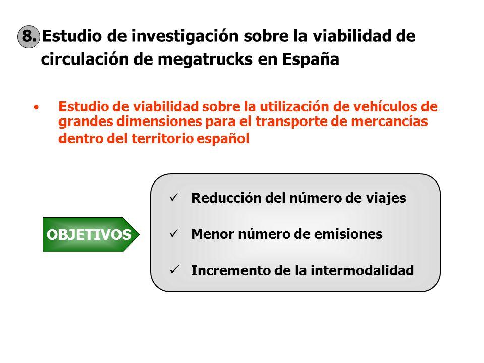 8. Estudio de investigación sobre la viabilidad de circulación de megatrucks en España Estudio de viabilidad sobre la utilización de vehículos de gran