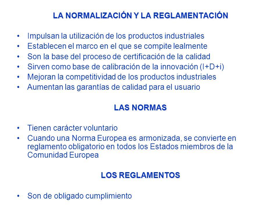 HORMIGÓN NORMALIZACIÓN EUROPEA NORMAS PRINCIPALES Relativas al material: EN 206-1:2000 Hormigón: Especificaciones, prestaciones, producción y conformidad EN 206-9:2010 Reglas adicionales para el hormigón autocompactante (self-compacting concrete) En España la norma EN 206 se utiliza como norma UNE-EN 206 complementada por el documento para la aplicación de dicha norma (UNE-EN 206) en España, al objeto de que dicha aplicación sea conforme con la Reglamentación de obligado cumplimiento en España (Instrucción de Hormigón Estructural EHE-08)