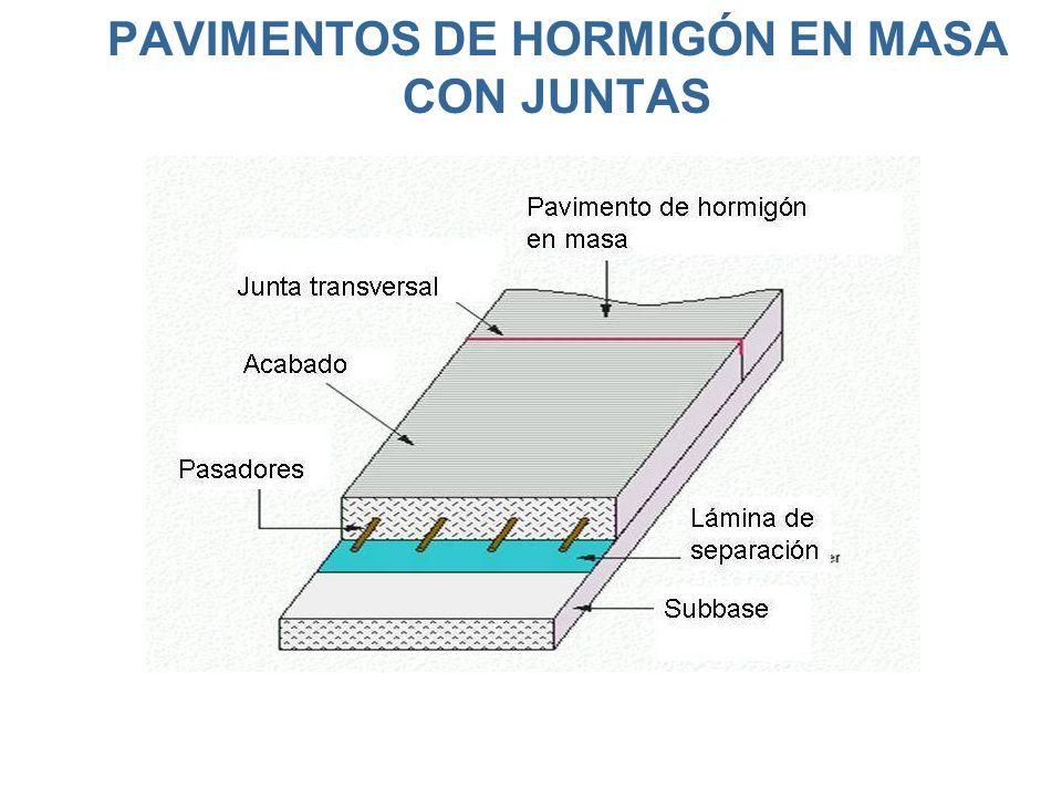 PAVIMENTOS DE HORMIGÓN EN MASA CON JUNTAS