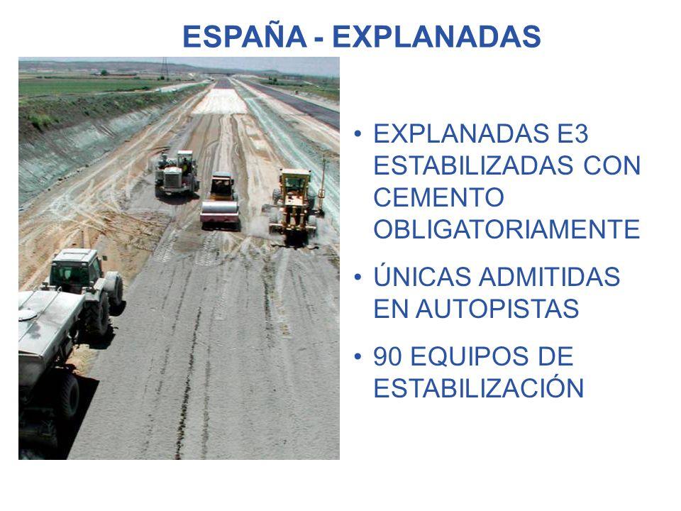 TECNICAS BUENA PLATAFORMA DE APOYO COLABORACIÓN ESTRUCTURAL FIRME REDUCE LA SENSIBILIDAD AL AGUA PERMITE LA CIRCULACIÓN AUMENTA LA DURABILIDAD ECONÓMICAS ECOLÓGICAS USO SUELOS EXISTENTES AHORRO DE ARIDOS NO DAÑOS COLATERALES DEL TRANSPORTE NO GRAVERAS - NO VERTEDEROS VENTAJAS DE LA ESTABILIZACIÓN