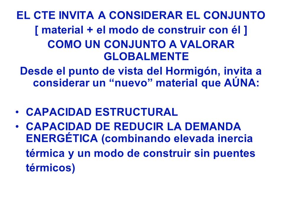 NUEVOS HORMIGONES ALTERNATIVAS DE DISEÑO: SEPARACIÓN ENTRE VIVIENDAS Y FACHADAS CON AISLAMIENTO ACÚSTICO Y ELEVADA INERCIA TÉRMICA: PANTALLAS (espesor 12 cm.) DE HORMIGÓN ESTRUCTURAL EN FACHADAS LA PANTALLA (espesor = 20 cm) DE HORMIGÓN ESTRUCTURAL SE DISPONE HACIA EL INTERIOR DEL EDIFICIO HORMIGÓN ARQUITECTÓNICO (TEXTURA Y COLORIDO), O CUALQUIER OTRO ACABADO ARQUITECTÓNICO, EN FACHADAS