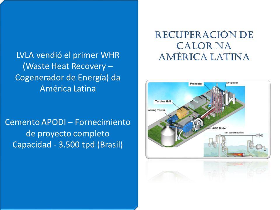 Recuperación de calor Na América Latina LVLA vendió el primer WHR (Waste Heat Recovery – Cogenerador de Energía) da América Latina Cemento APODI – For
