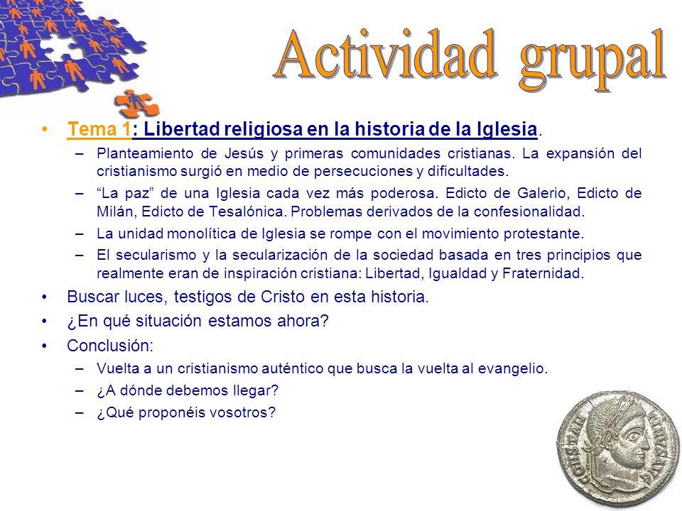 Tema 2: Nuevas formas de religiosidad hoy.Definición del término Secularización.