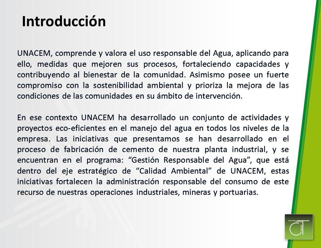 UNACEM, comprende y valora el uso responsable del Agua, aplicando para ello, medidas que mejoren sus procesos, fortaleciendo capacidades y contribuyen
