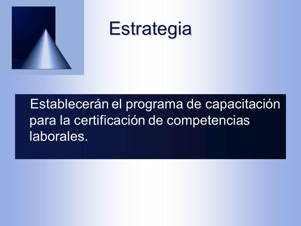 Establecerán el programa de capacitación para la certificación de competencias laborales.