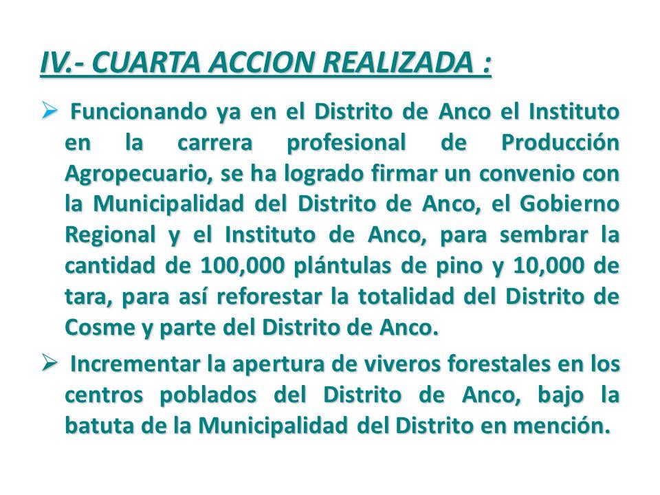 III.- TERCERA ACCION REALIZADA : Fortalecer capacidades en las comunidades, de los diferentes distritos de la región, capacitándoles en el área técnic