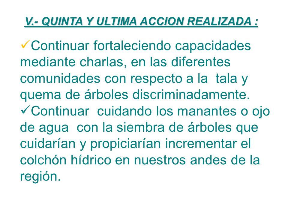 IV.- CUARTA ACCION REALIZADA : Funcionando ya en el Distrito de Anco el Instituto en la carrera profesional de Producción Agropecuario, se ha logrado