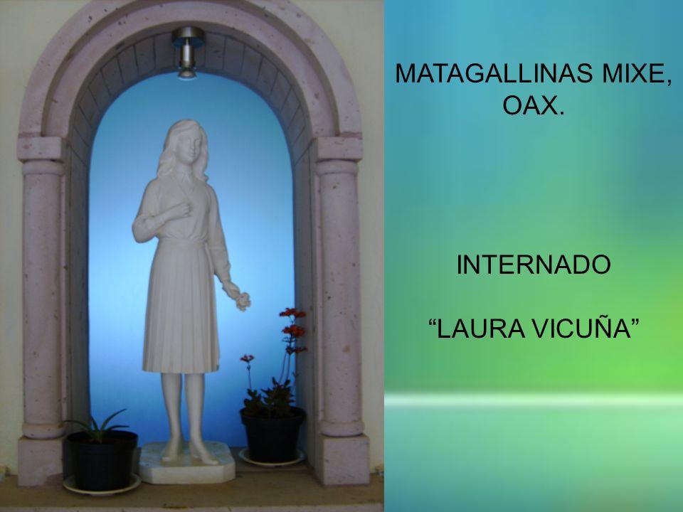 MATAGALLINAS MIXE, OAX. INTERNADO LAURA VICUÑA