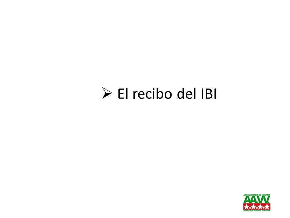 El recibo del IBI