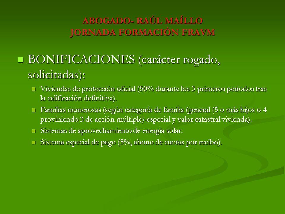 ABOGADO- RAÚL MAÍLLO JORNADA FORMACIÓN FRAVM CONCLUSIONES: CONCLUSIONES: INTERPOSICIÓN DE RECURSO/RECLAMACIÓN.