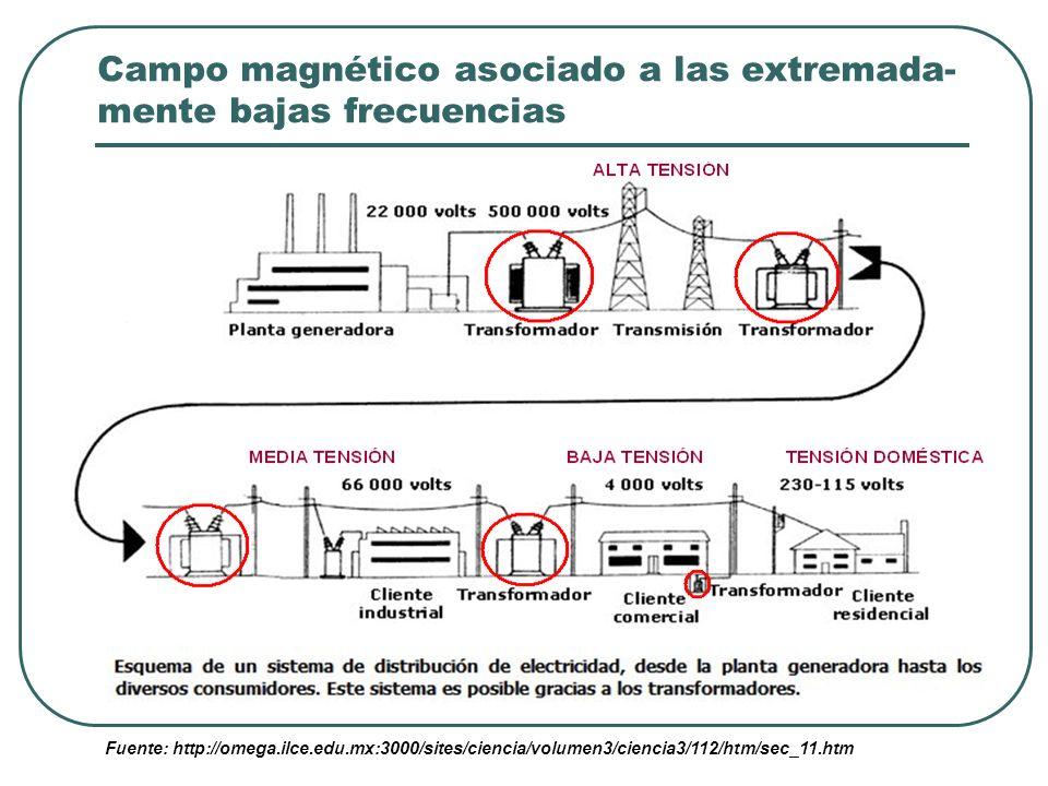 CM originado por conducciones y aparatos eléctricos Vivimos inmersos en CM generados por tendidos eléctri- cos y aparatos do- mésticos